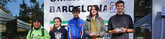 Podi del Martí Gimisó al Trofeu Internacional de Barcelona de Curses d'Orientació